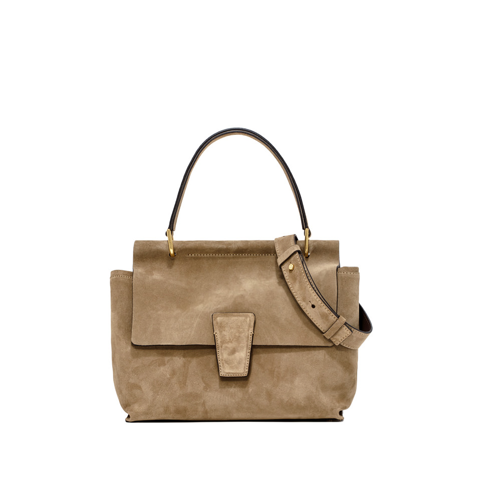GIANNI CHIARINI: ELETTRA  BEIGE  BROWN  HANDBAG