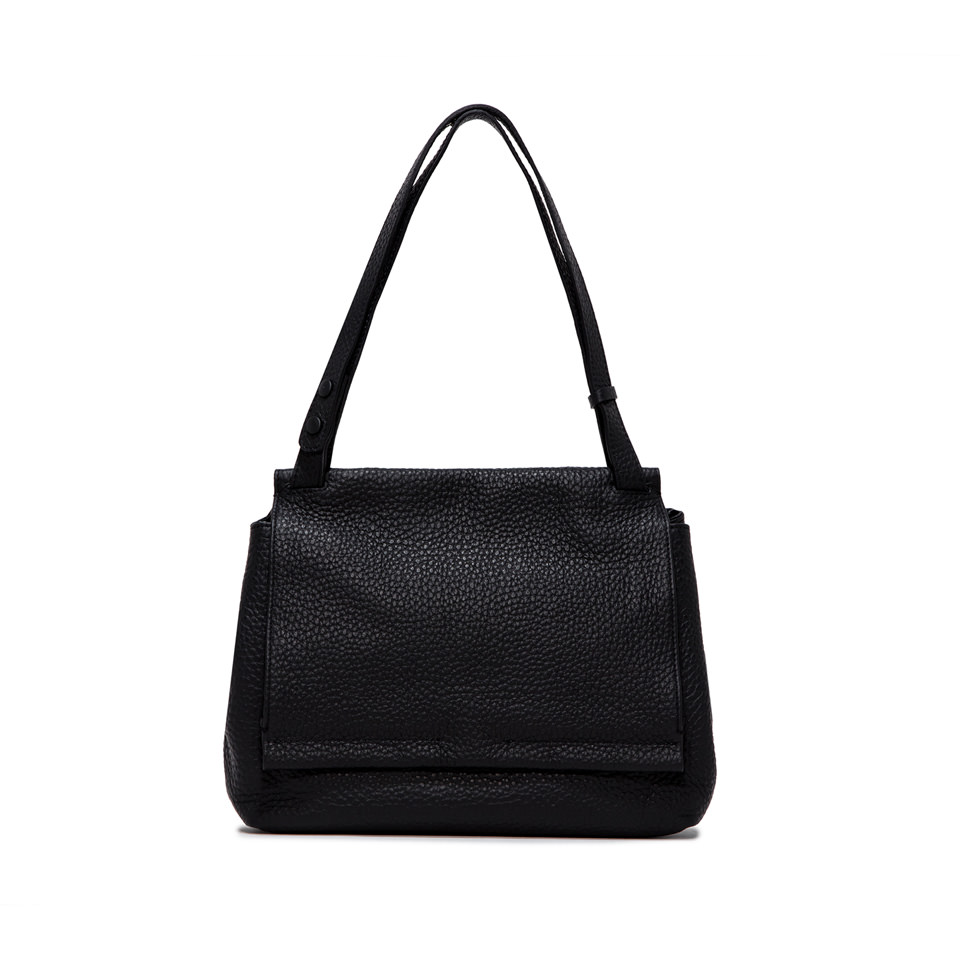 GIANNI CHIARINI: ETHNA  MEDIUM  BLACK  SHOULDER  BAG