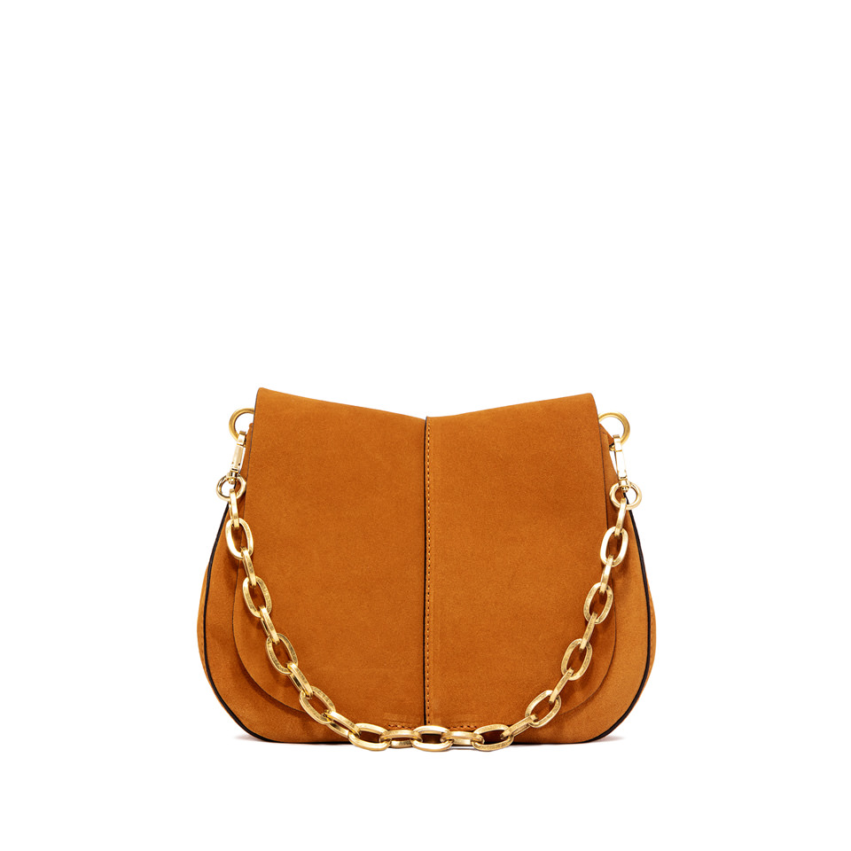 GIANNI CHIARINI: HELENA  ROUND  MEDIUM  ORANGE  CROSS  BODY  BAG