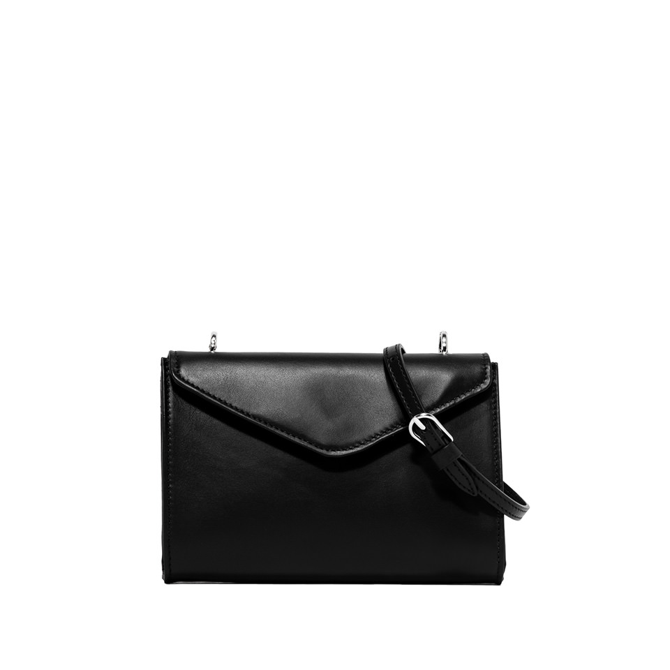 GIANNI CHIARINI: PRISCILLA  MEDIUM  BLACK  CROSS  BODY  BAG