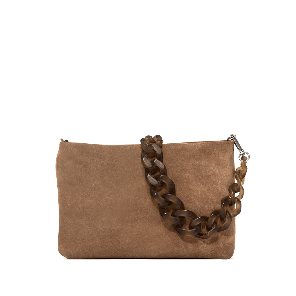 GIANNI CHIARINI: MEDIUM SIZE BRENDA SHOULDER BAG COLOR BEIGE