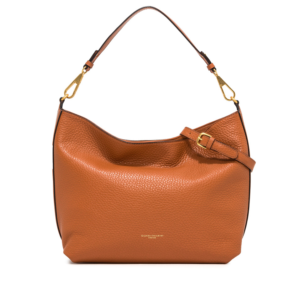 GIANNI CHIARINI: LARGE SIZE NEW STUFFY SHOULDER BAG COLOR ORANGE