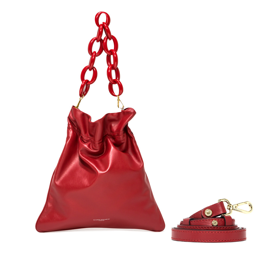 GIANNI CHIARINI: LARGE SIZE MEMORY SHOULDER BAG COLOR RED