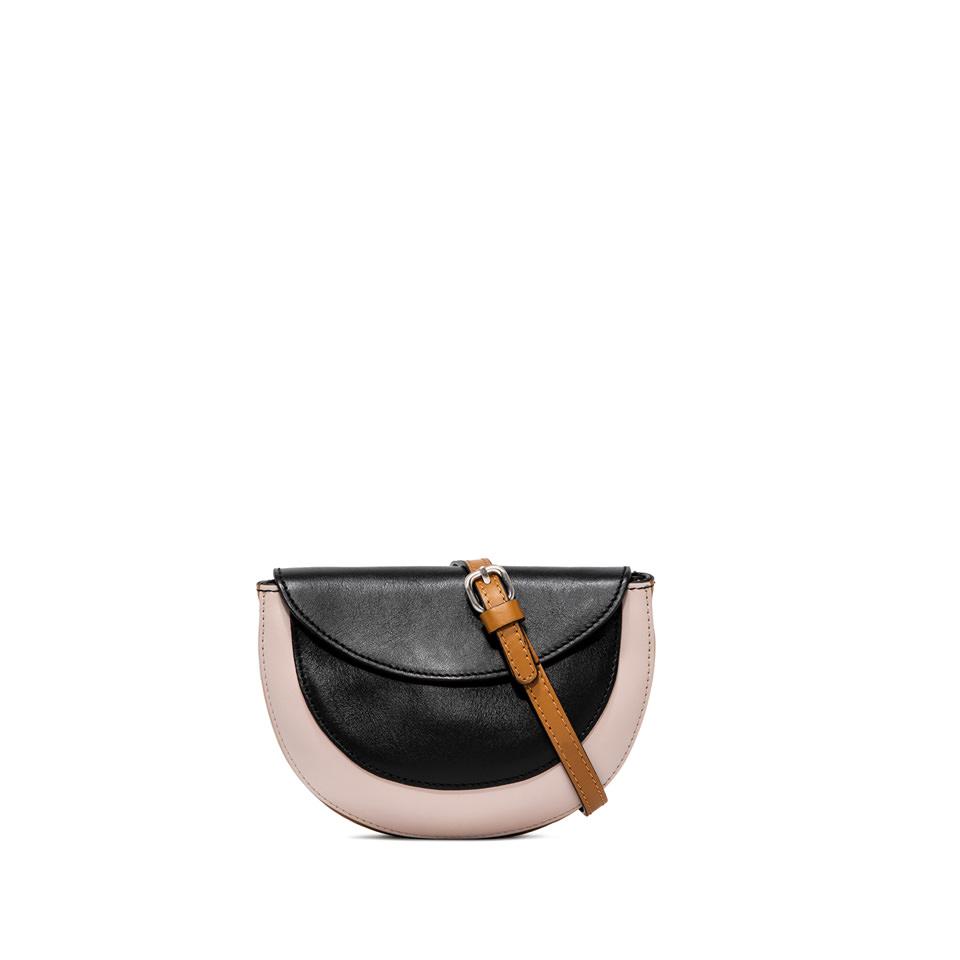 GIANNI CHIARINI: ROSETTA SMALL BLACK SHOULDER BAG