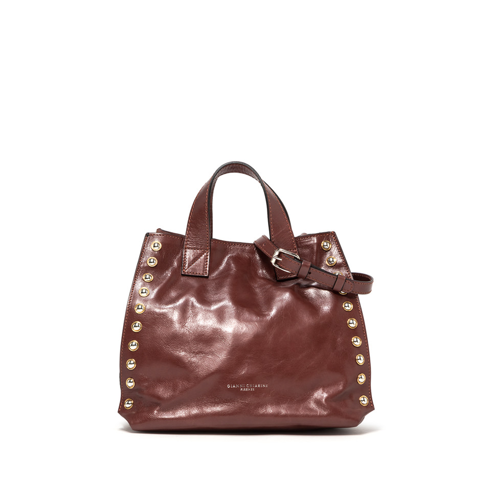 GIANNI CHIARINI: MEDIUM SIZE DOROTEA HAND BAG COLOR BROWN