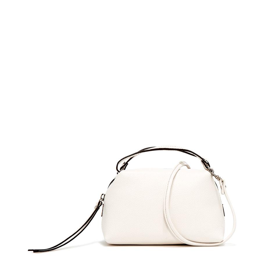 GIANNI CHIARINI: SMALL SIZE ALIFA HAND BAG COLOR WHITE
