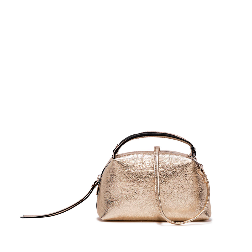 GIANNI CHIARINI: SMALL SIZE ALIFA HAND BAG COLOR BRONZE