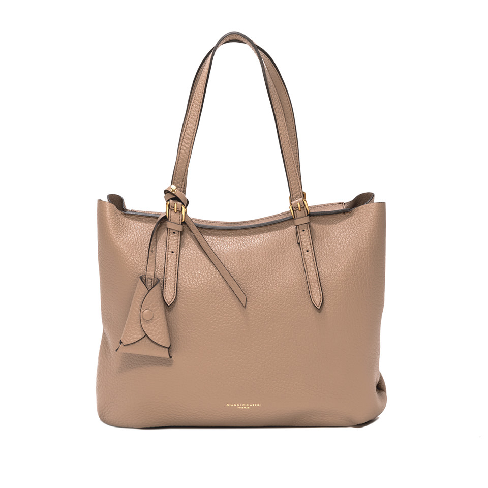 GIANNI CHIARINI: LARGE SIZE BELLA SHOPPING COLOR BEIGE