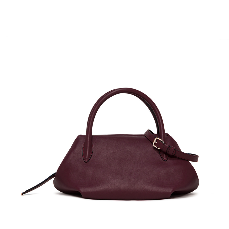 GIANNI CHIARINI: LARGE SIZE COLETTE HAND BAG COLOR BURGUNDY