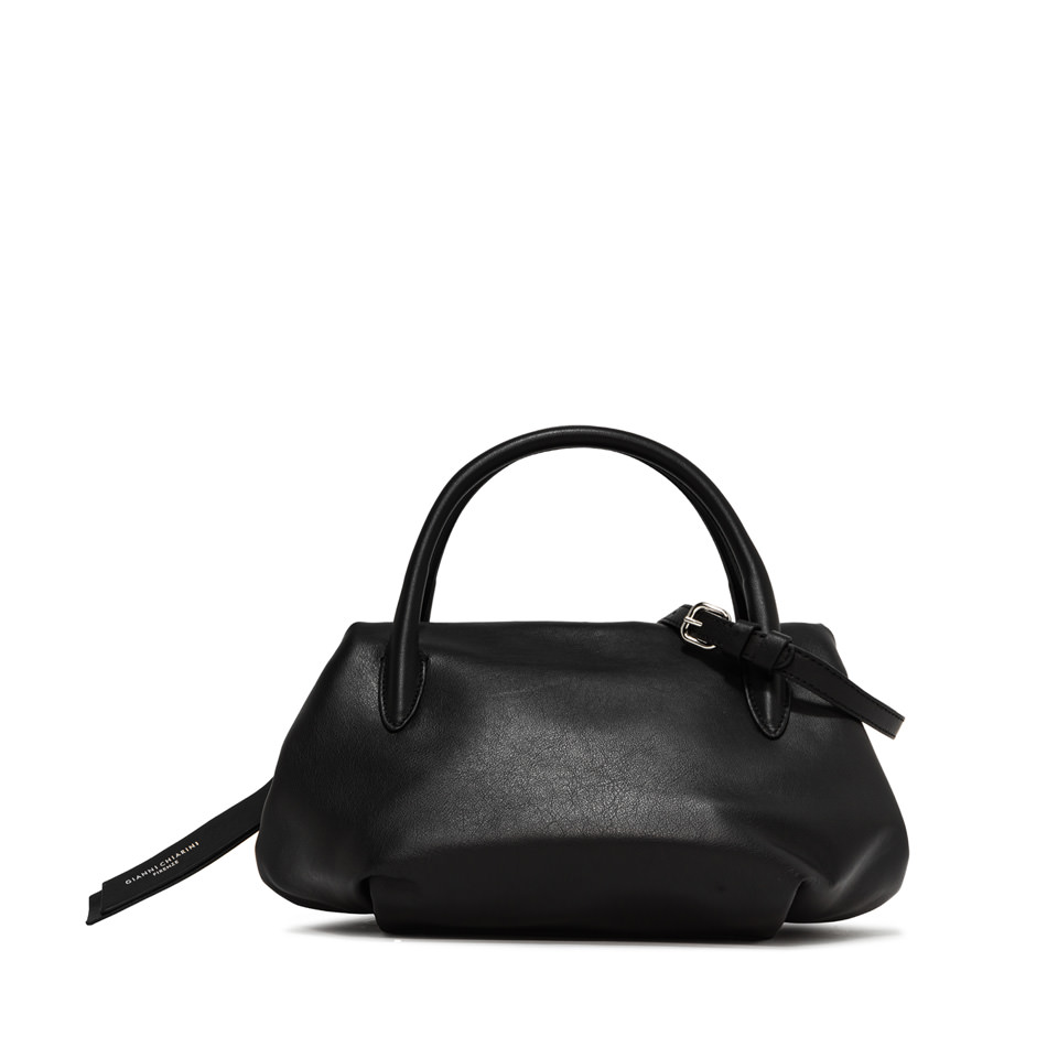 GIANNI CHIARINI: LARGE SIZE COLETTE HAND BAG COLOR BLACK