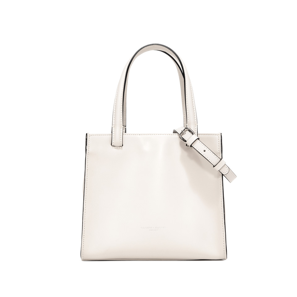 GIANNI CHIARINI: MEDIUM SIZE CUBE HAND BAG COLOR WHITE