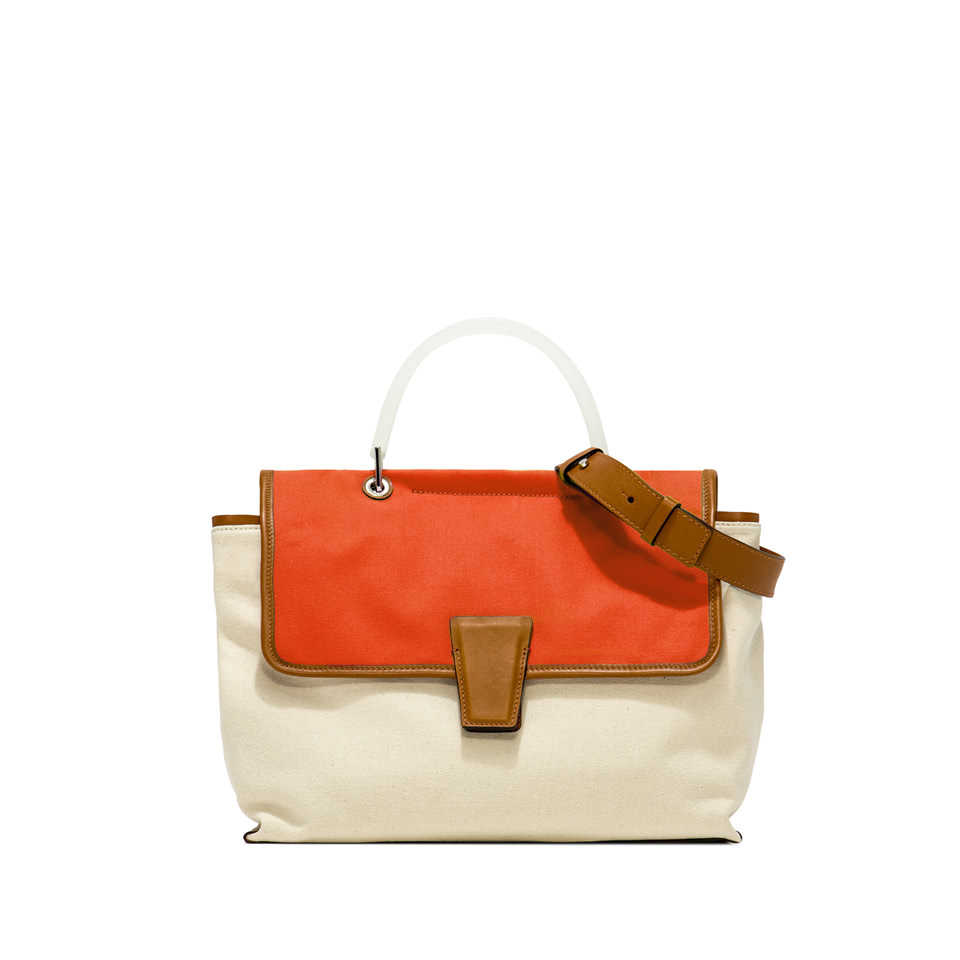 GIANNI CHIARINI: MEDIUM SIZE ELETTRA HAND BAG COLOR ORANGE