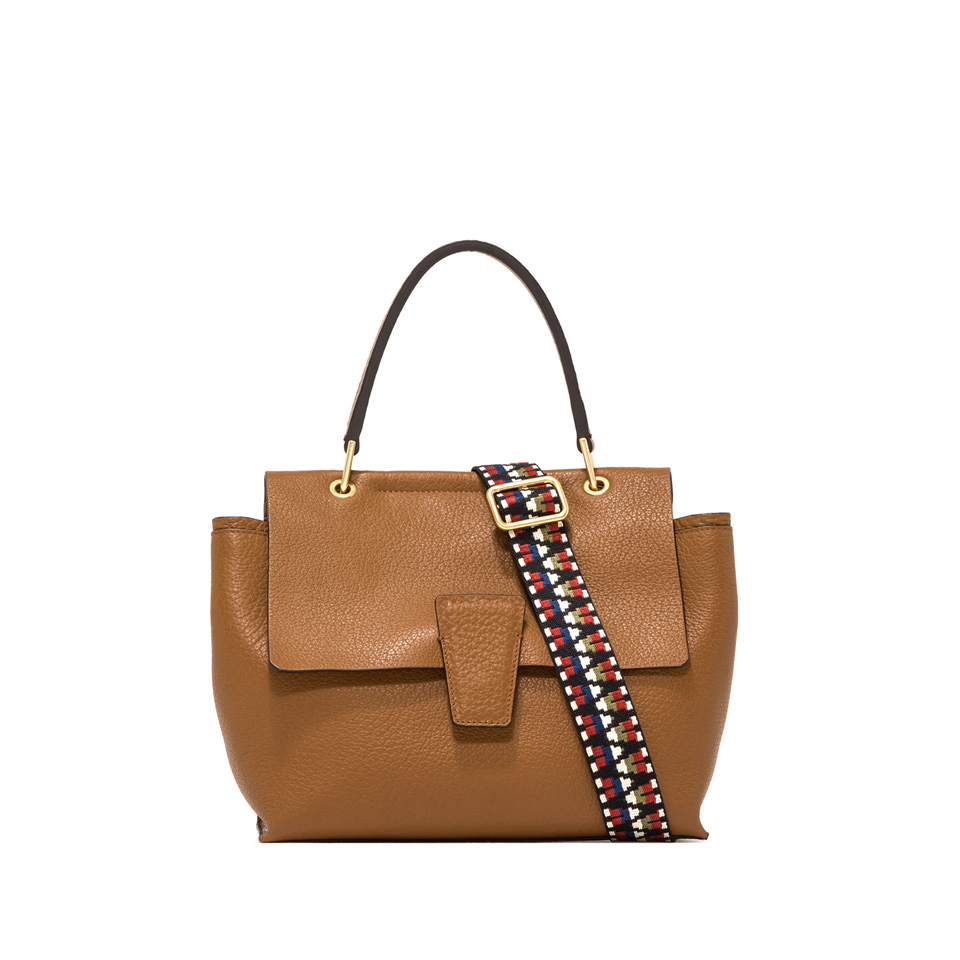 GIANNI CHIARINI: MDIUM HAND BAG ELETTRA COLOR BROWN