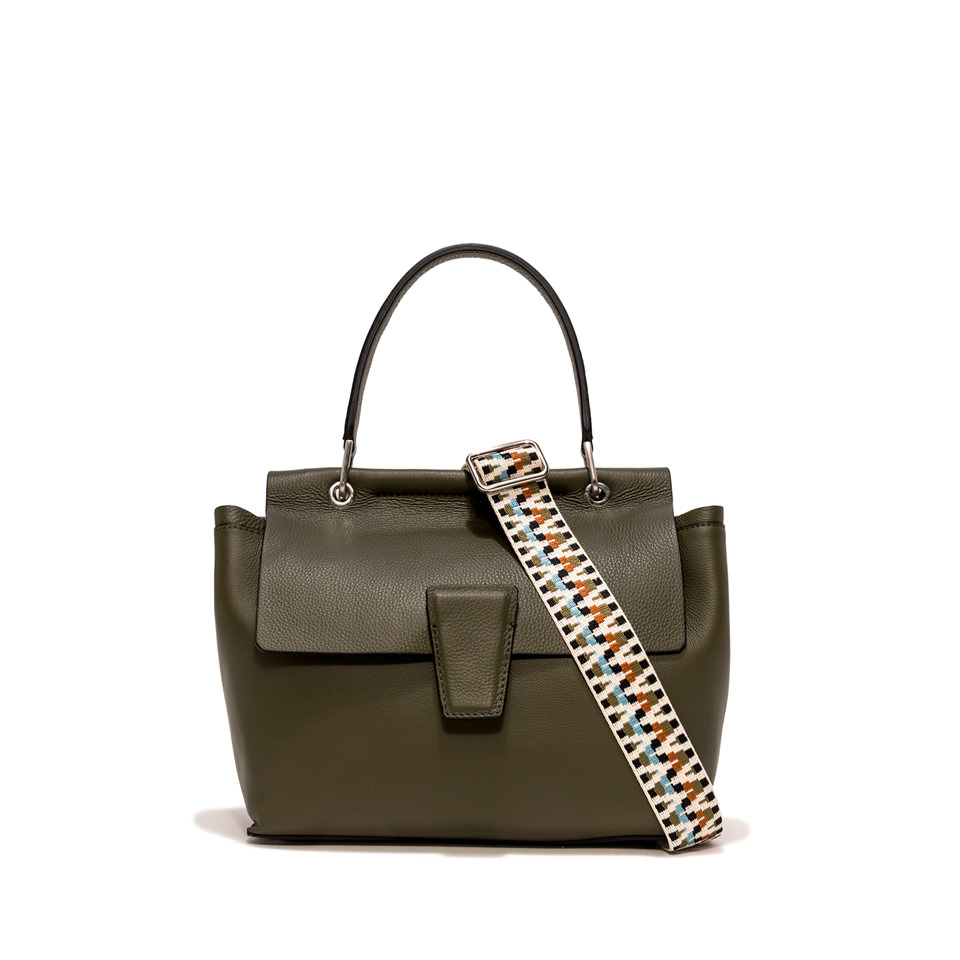 GIANNI CHIARINI: MEDIUM SIZE ELETTRA HAND BAG COLOR GREEN