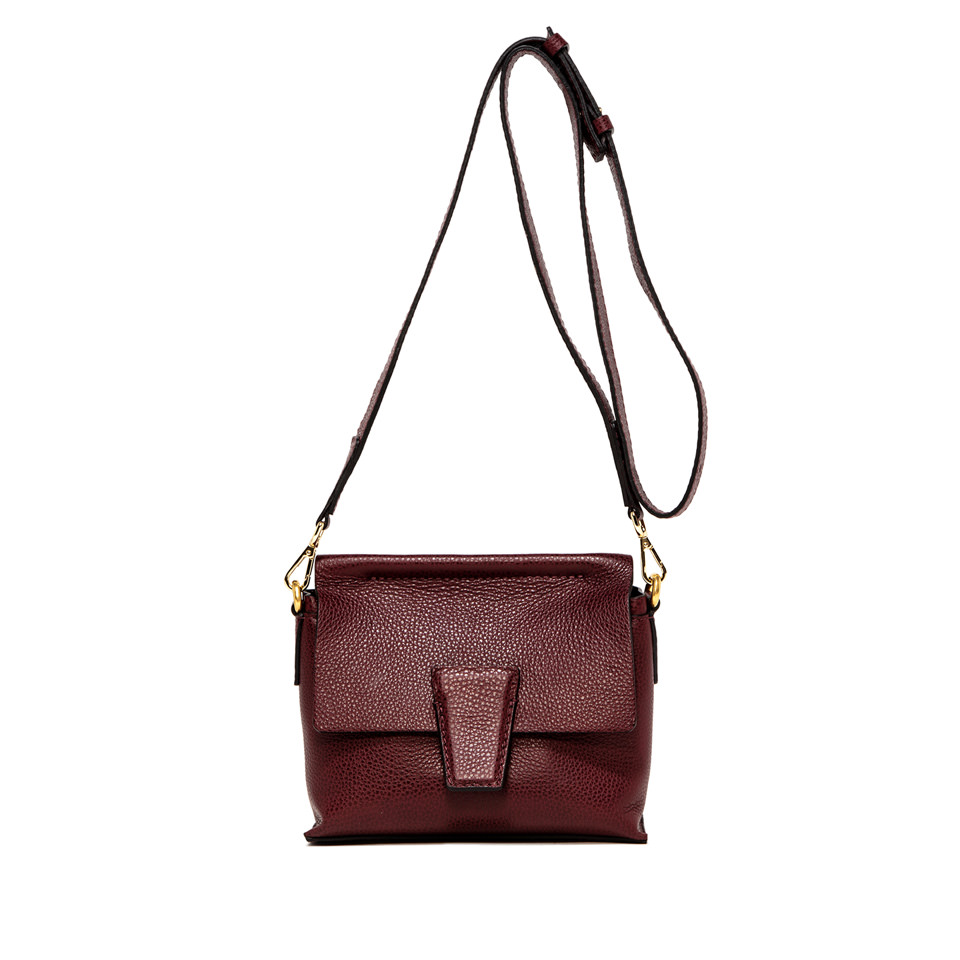 GIANNI CHIARINI: ELETTRA ROMANCE SMALL BURGUNDY CROSS BODY BAG