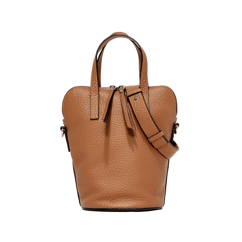 GIANNI CHIARINI: FEDRA LARGE BROWN HANDBAG
