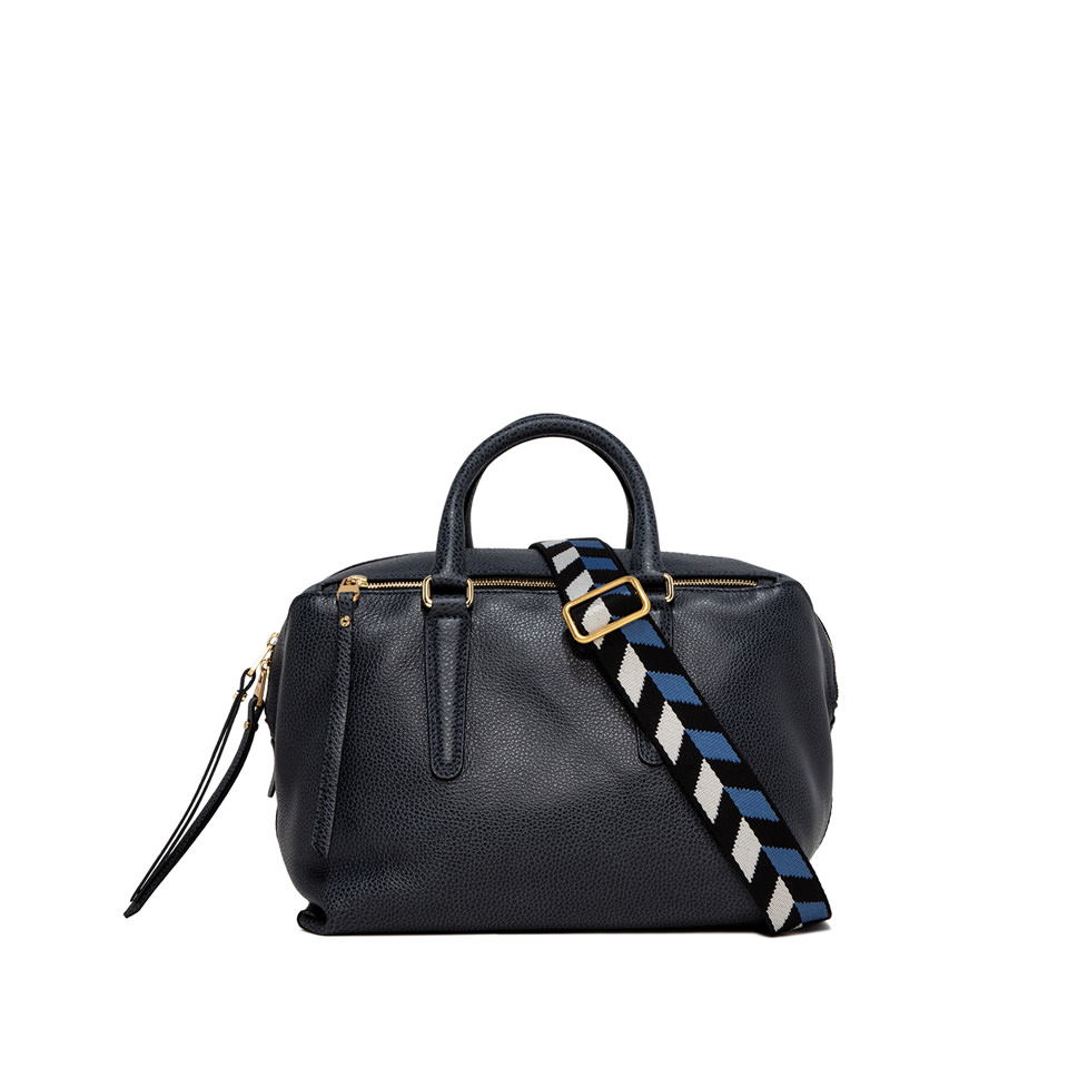 GIANNI CHIARINI: ISABELLA MEDIUM BLUE HANDBAG