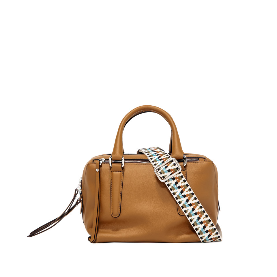 GIANNI CHIARINI: ISABELLA SMALL BROWN SHOULDER BAG