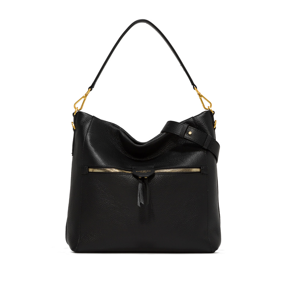 GIANNI CHIARINI: MEDIUM SIZE MARICA SHOULDER BAG COLOR BLACK