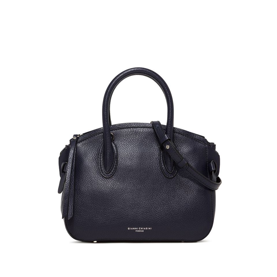 GIANNI CHIARINI: MEDIUM SIZE NUTTY HAND BAG COLOR BLUE
