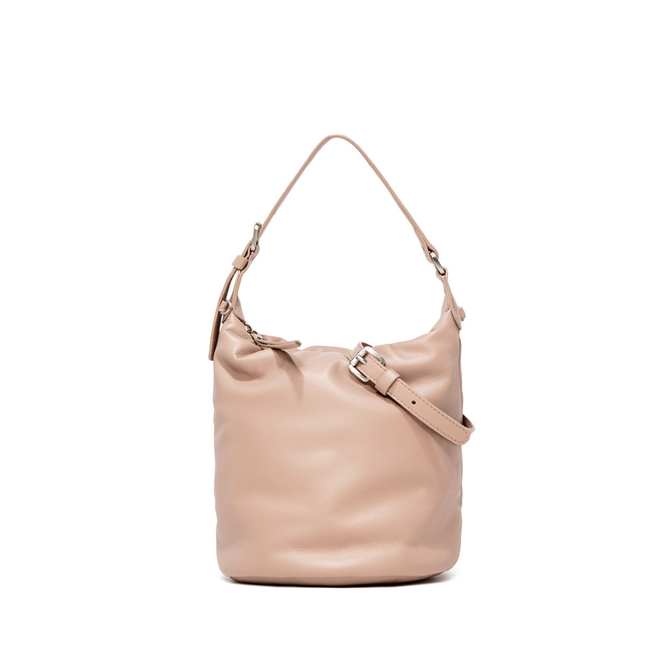 GIANNI CHIARINI: PIUMA MEDIUM NUDE HANDBAG