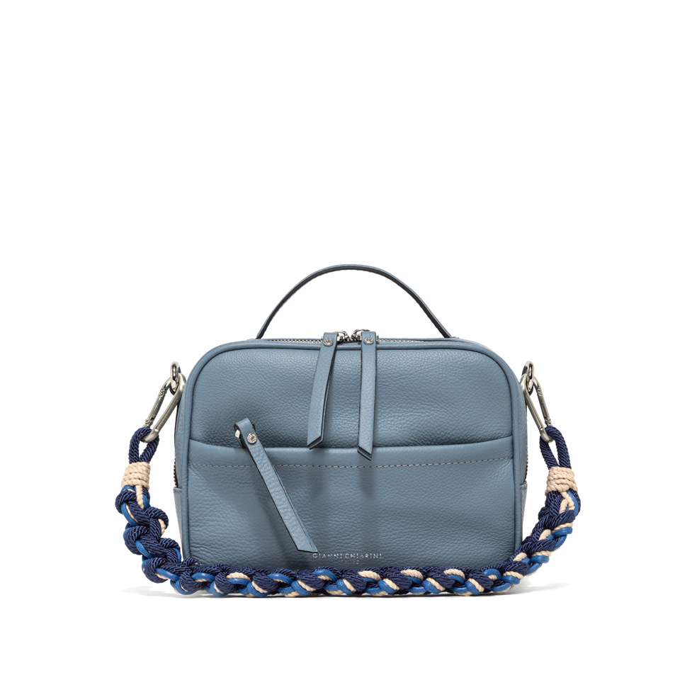 GIANNI CHIARINI: LARGE SIZE RALLY HAND BAG COLOR LIGHT BLUE