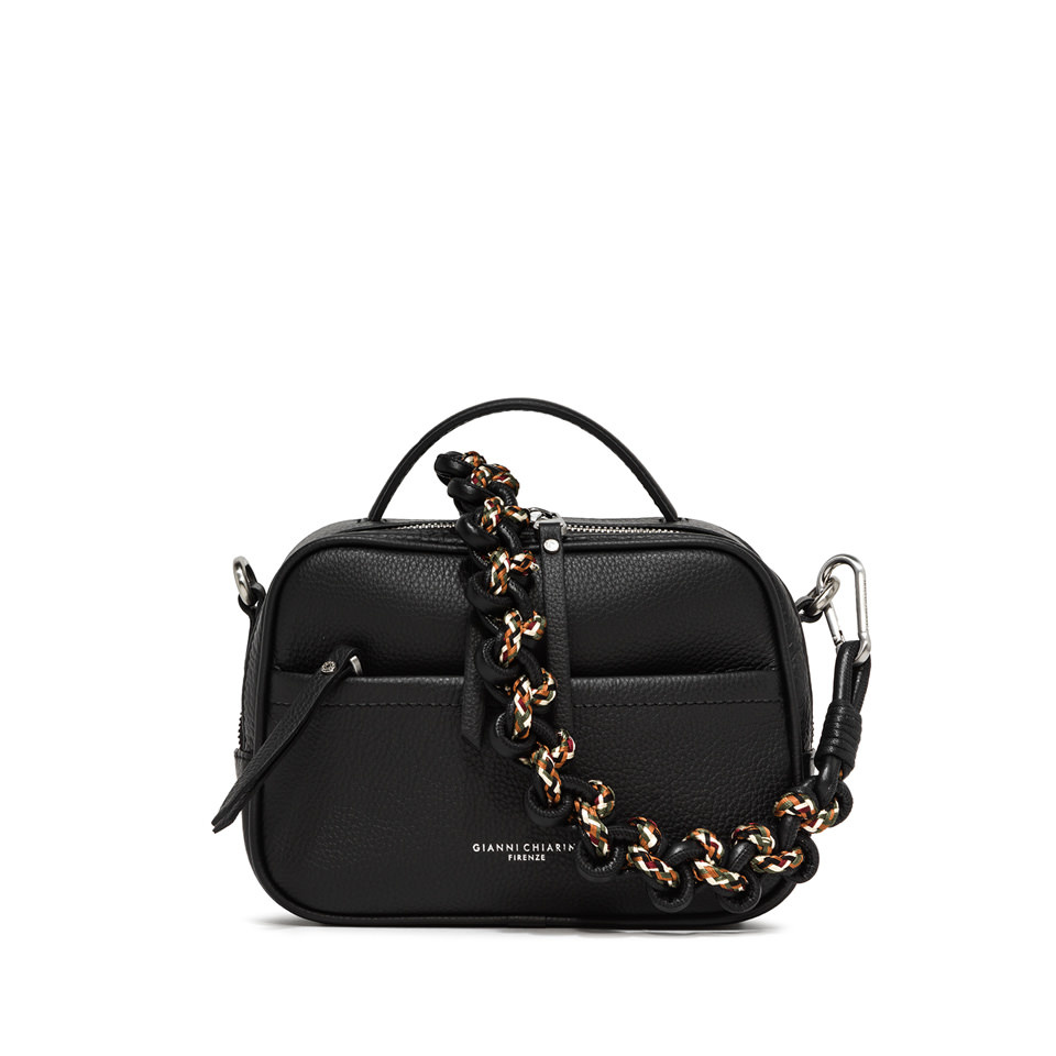 GIANNI CHIARINI: LARGE SIZE RALLY HAND BAG COLOR BLACK