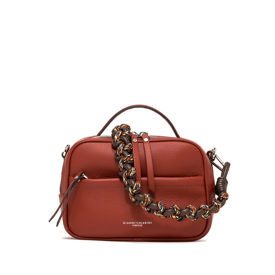 GIANNI CHIARINI: LARGE SIZE RALLY HAND BAG COLOR RED