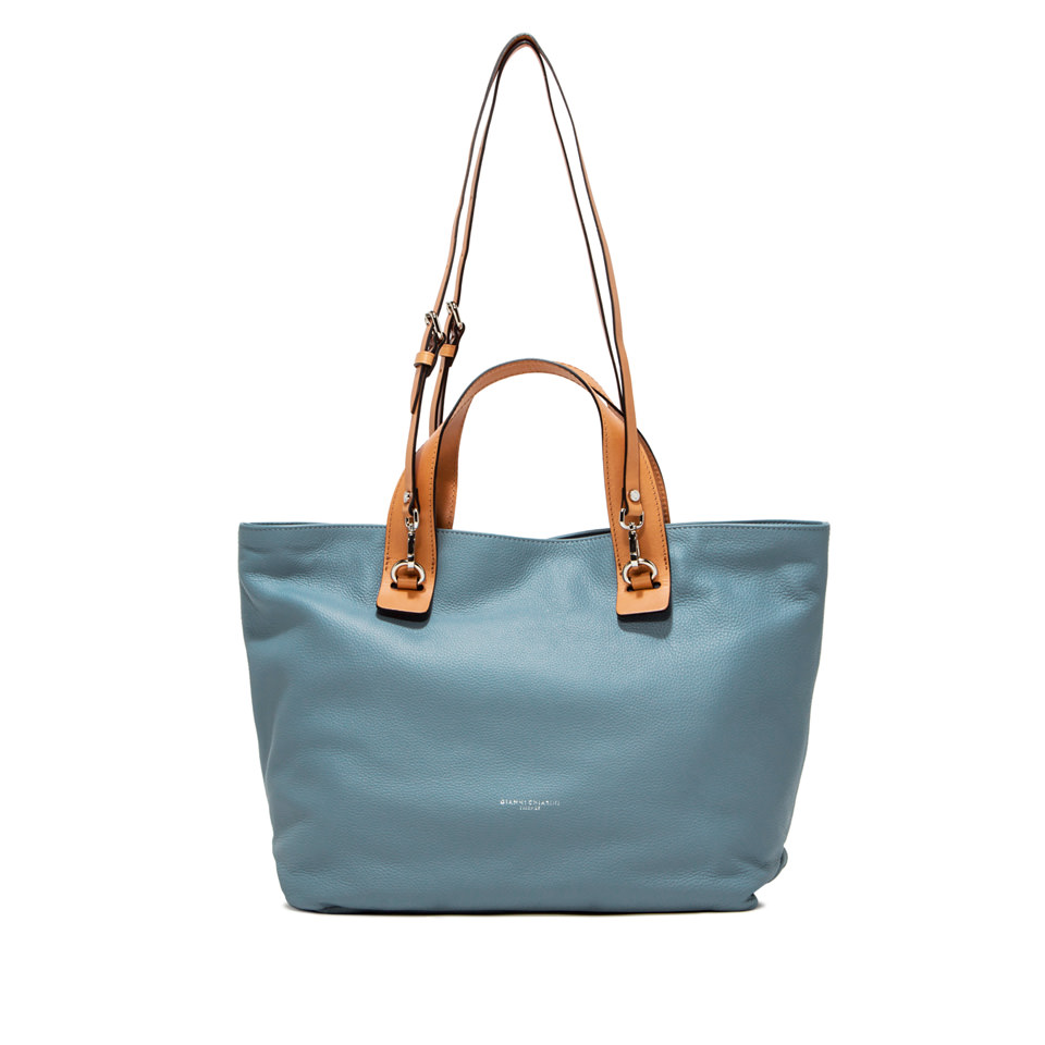 GIANNI CHIARINI: LARGE SIZE RIBOT HAND BAG COLOR LIGHT BLUE