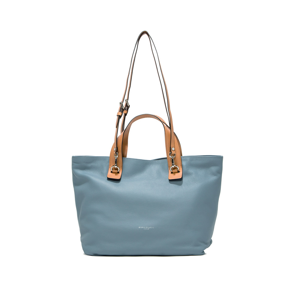GIANNI CHIARINI: MEDIUM SIZE RIBOT HAND BAG COLOR LIGHT BLUE