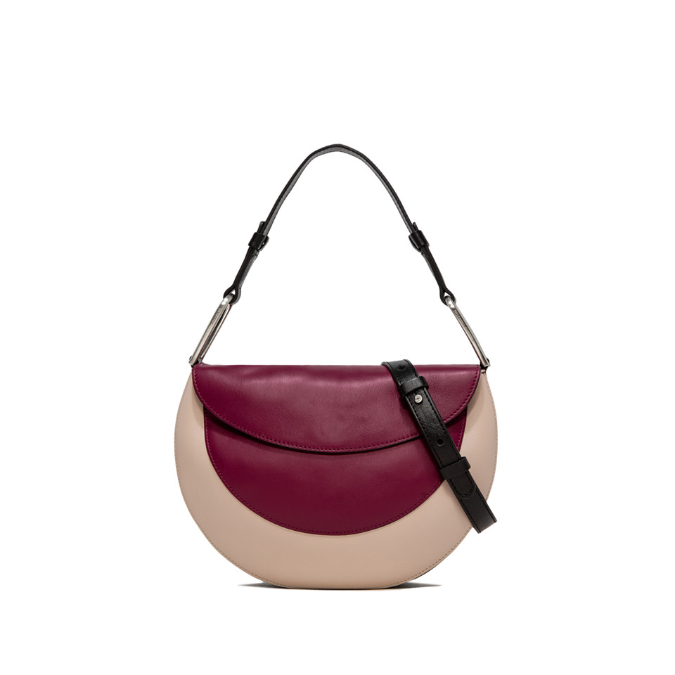 GIANNI CHIARINI: BORSA A MANO ROSETTA MEDIUM BORDEAUX