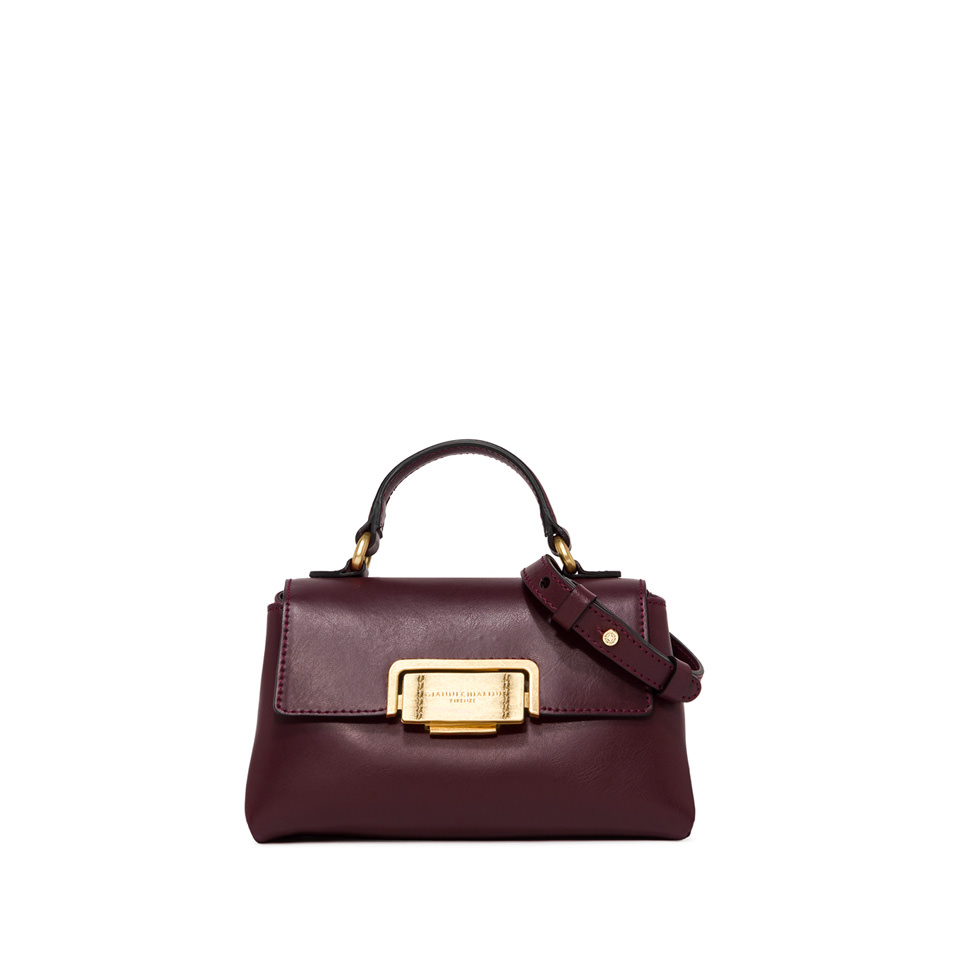 GIANNI CHIARINI: SMALL SIZE ROSSELLA HAND BAG COLOR BURGUNDY