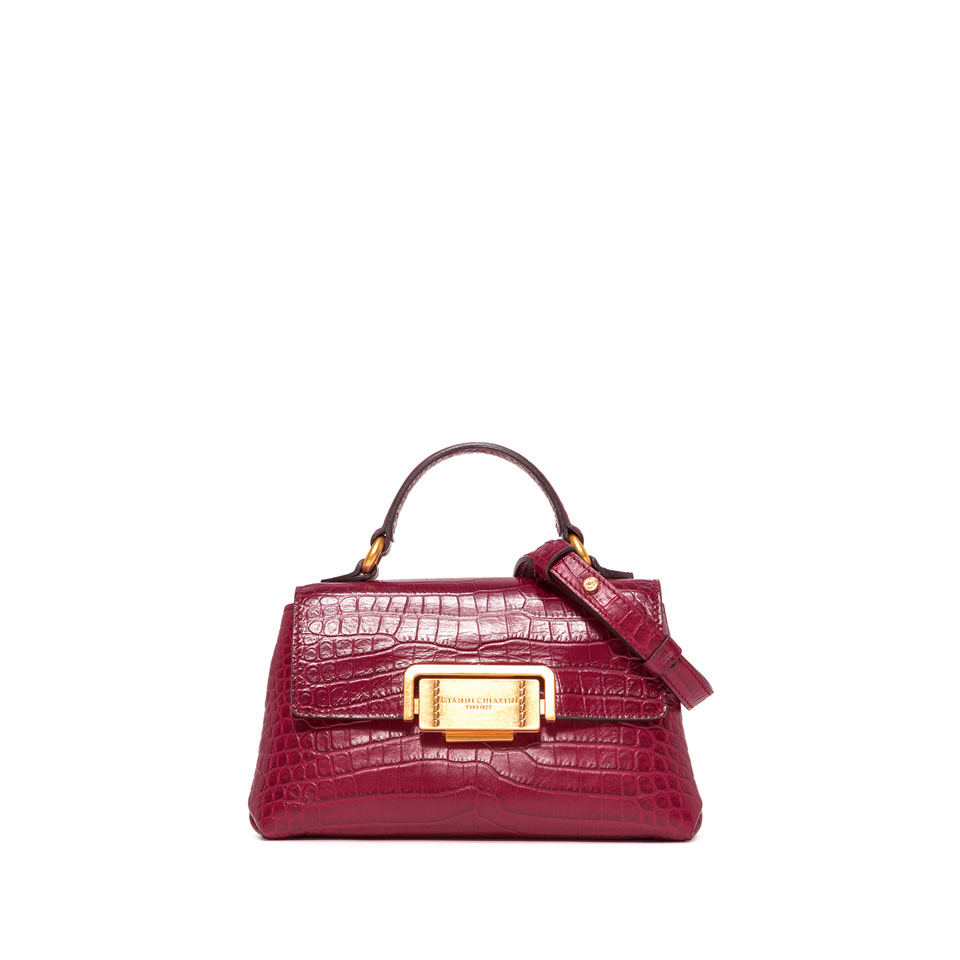 GIANNI CHIARINI: SMALL SIZE ROSSELLA HAND BAG COLOR RED