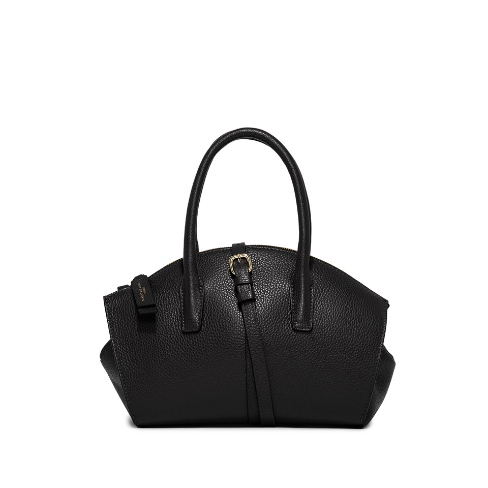 GIANNI CHIARINI: MEDIUM SIZE SHELL HAND BAG COLOR BLACK