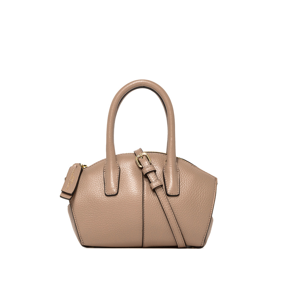 GIANNI CHIARINI: SMALL SIZE SHELL HAND BAG COLOR BEIGE