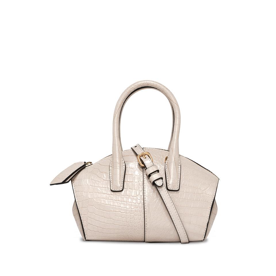 GIANNI CHIARINI: SMALL SIZE SHELL HAND BAG COLOR WHITE