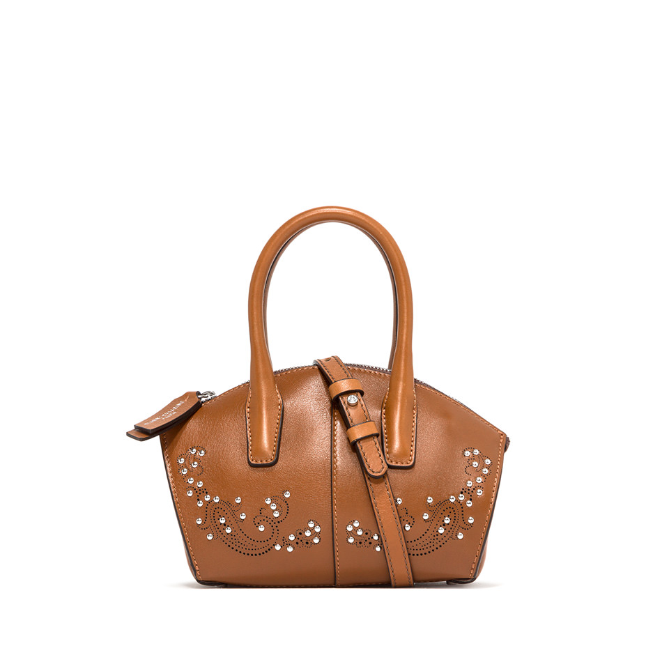 GIANNI CHIARINI: SMALL SIZE SHELL HAND BAG COLOR BROWN