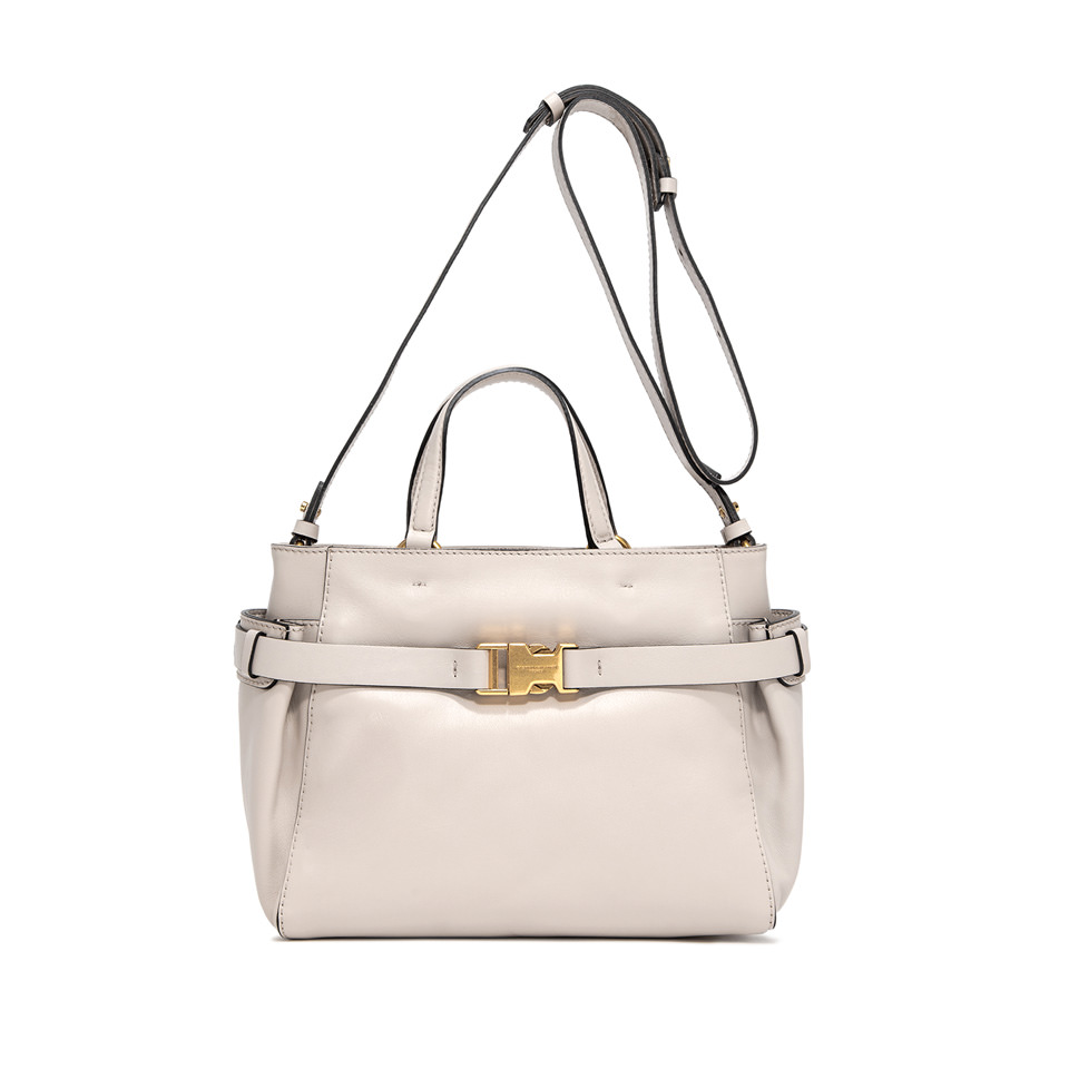 GIANNI CHIARINI: MEDIUM SIZE STELLA HAND BAG COLOR BEIGE