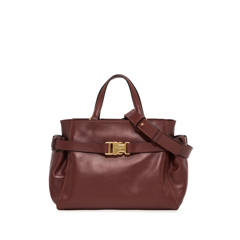 GIANNI CHIARINI: MEDIUM SIZE STELLA HAND BAG COLOR BROWN
