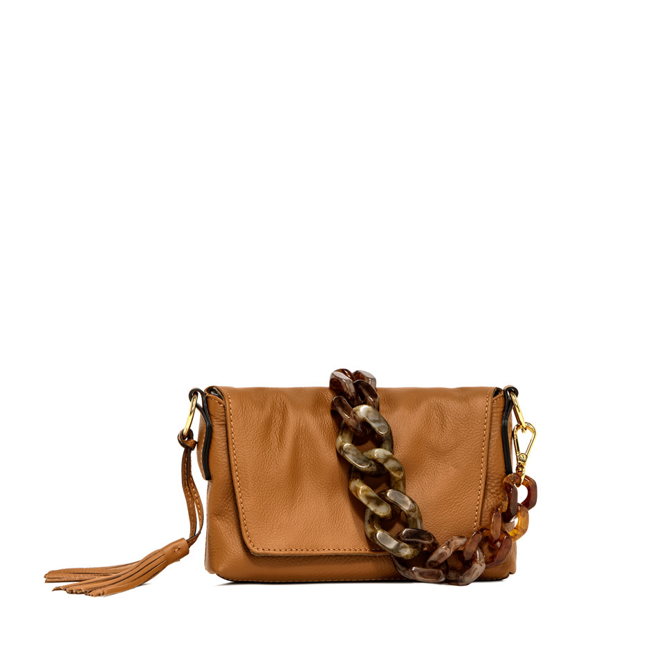 GIANNI CHIARINI: MEDIUM SIZE AFRICA SHOULDER BAG COLOR BROWN