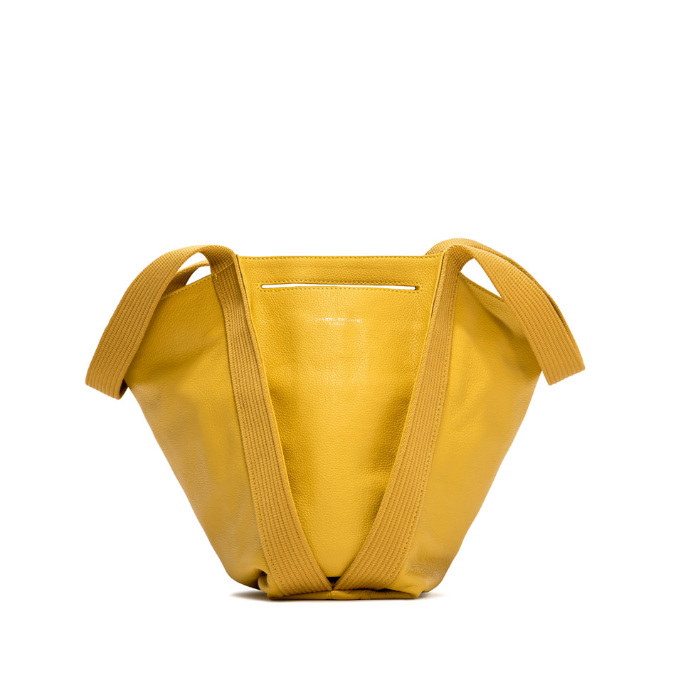 GIANNI CHIARINI: LARGE SIZE ASIA SHOULDER BAG COLOR YELLOW