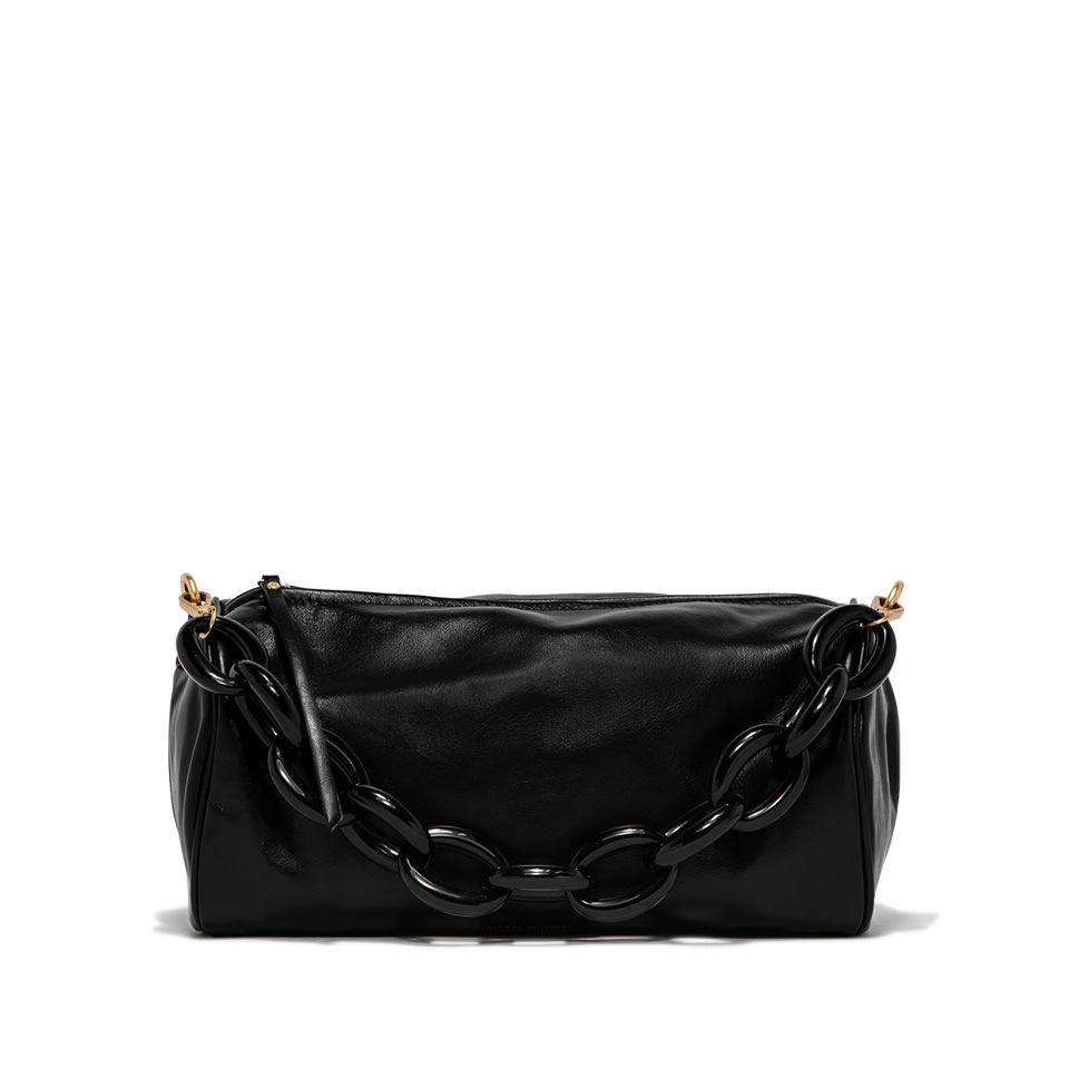 GIANNI CHIARINI: LARGE SIZE DELILAH SHOULDER BAG COLOR BLACK