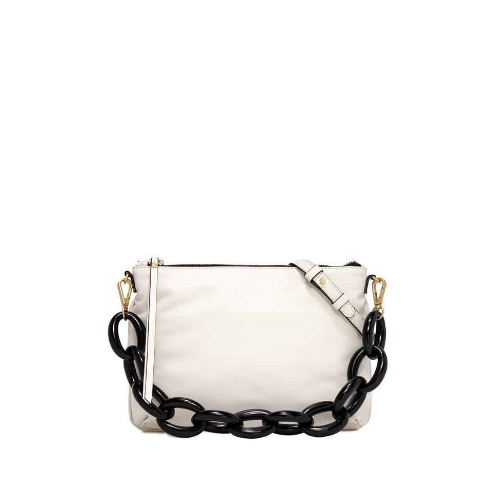 GIANNI CHIARINI: SMALL SIZE DELILAH SHOULDER BAG COLOR WHITE