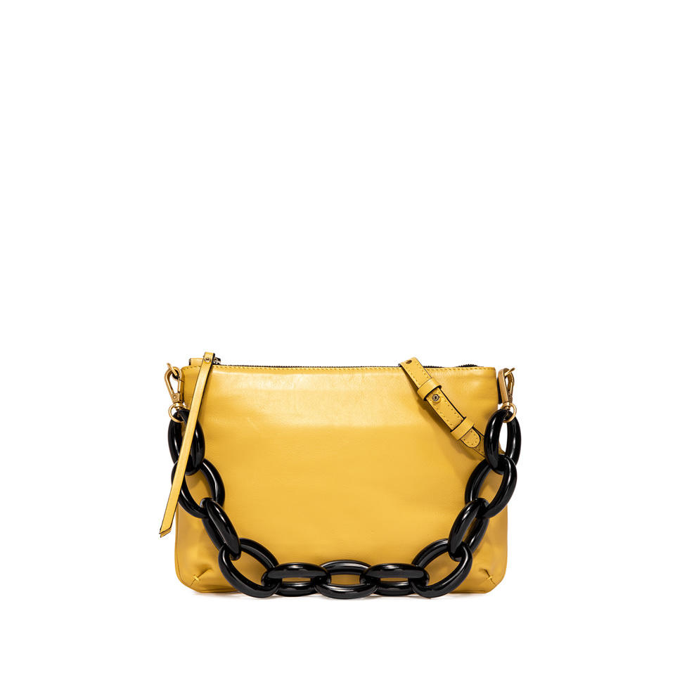 GIANNI CHIARINI: SMALL SIZE DELILAH SHOULDER BAG COLOR YELLOW