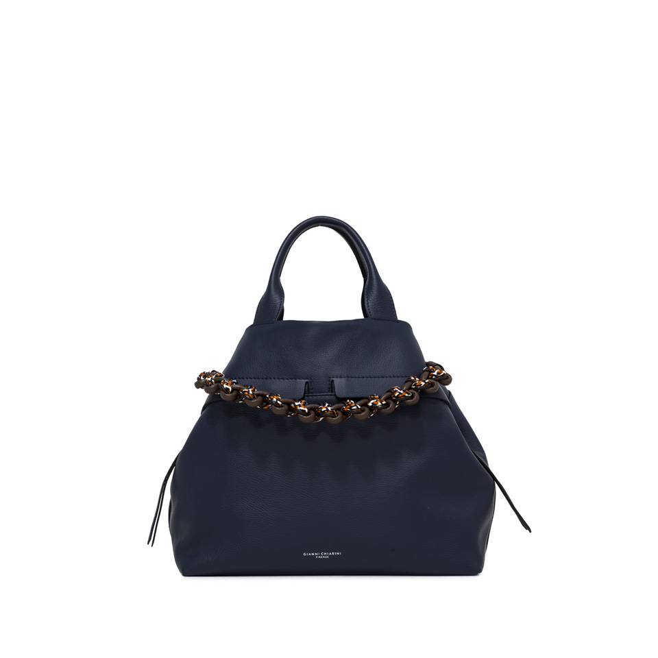 GIANNI CHIARINI: LARGE SIZE DUNA SHOULDER BAG COLOR BLUE