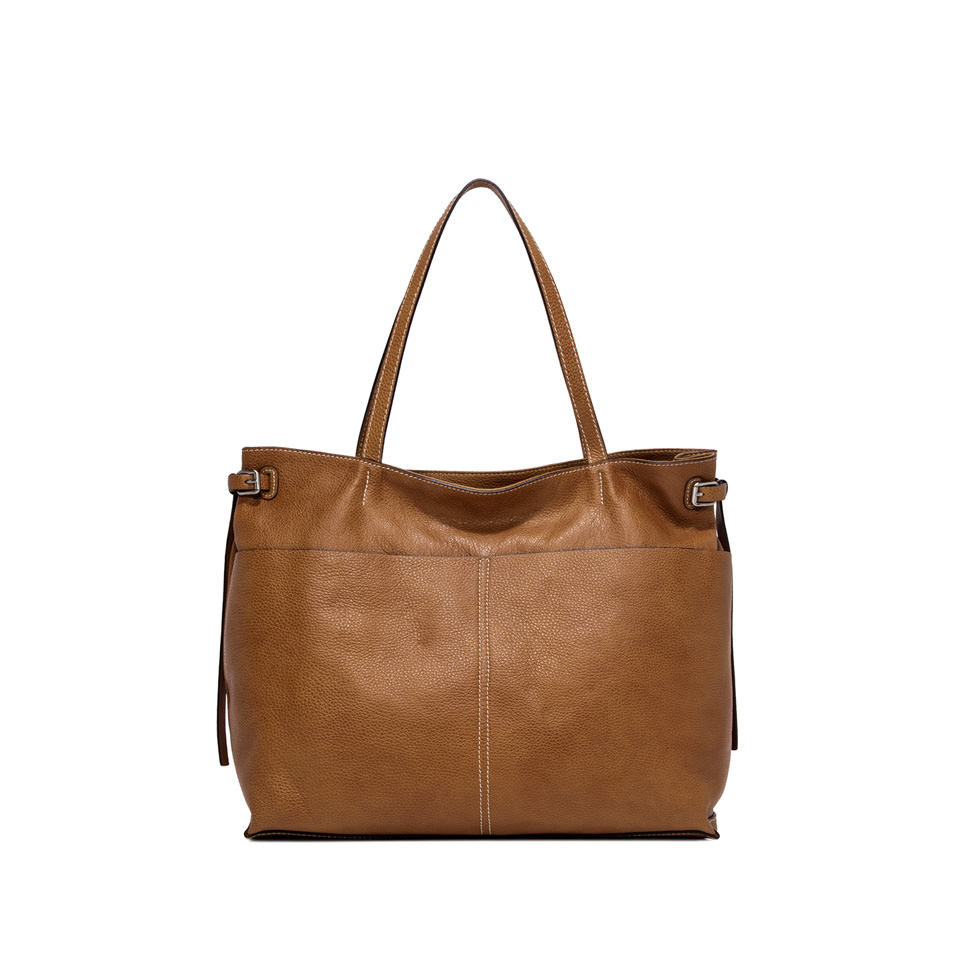 GIANNI CHIARINI: FUTURA MEDIUM BROWN SHOULDER BAG