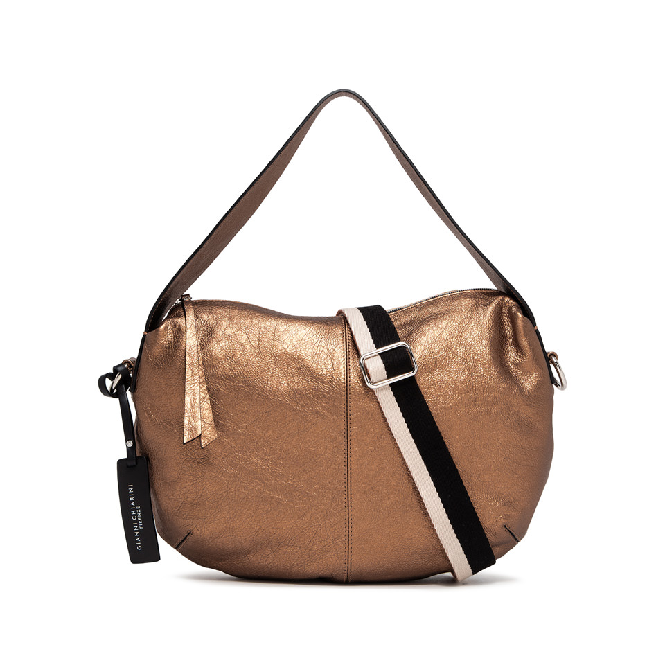 GIANNI CHIARINI: MEDIUM SIZE GIORGIA SHOULDER BAG COLOR BRONZE