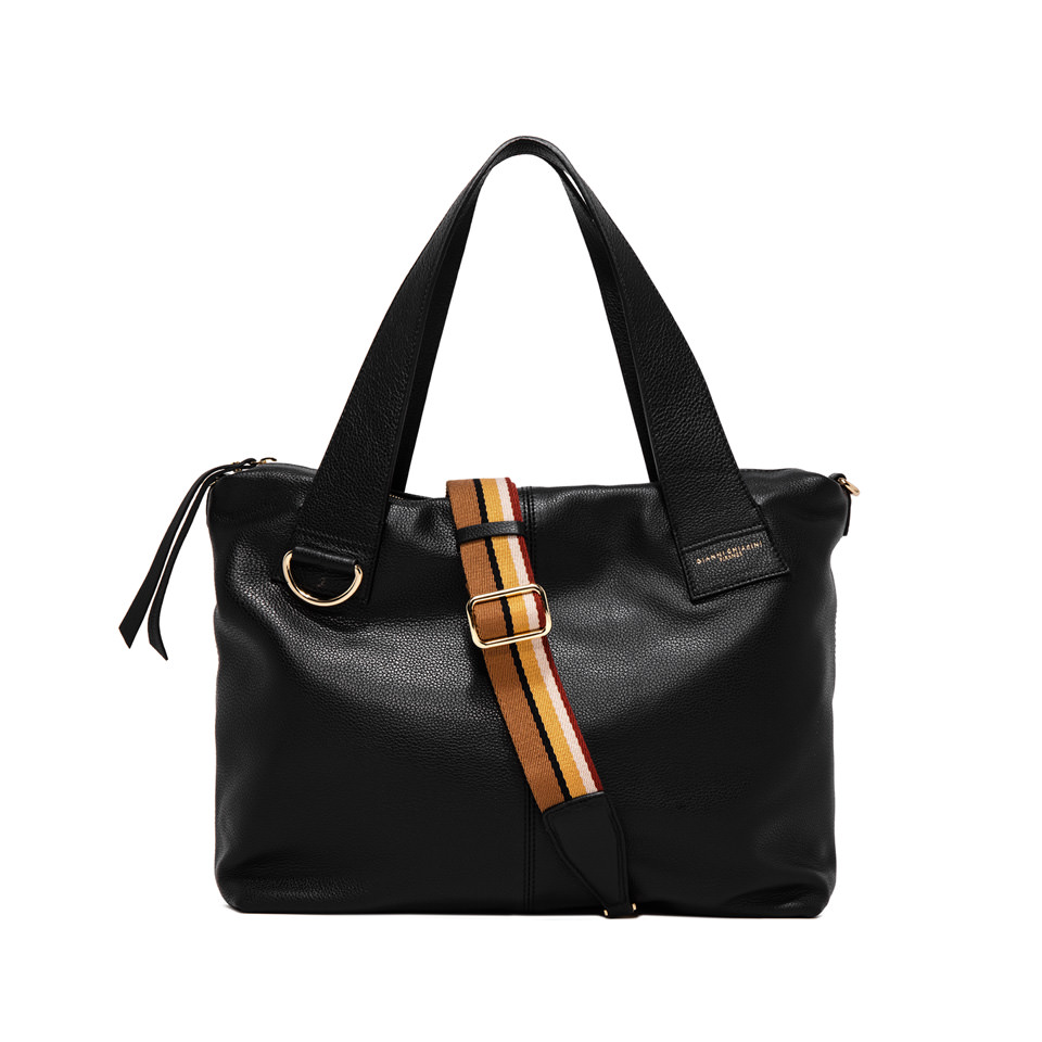 GIANNI CHIARINI: MEDIUM SIZE GIORGIA SHOPPING COLOR BLACK