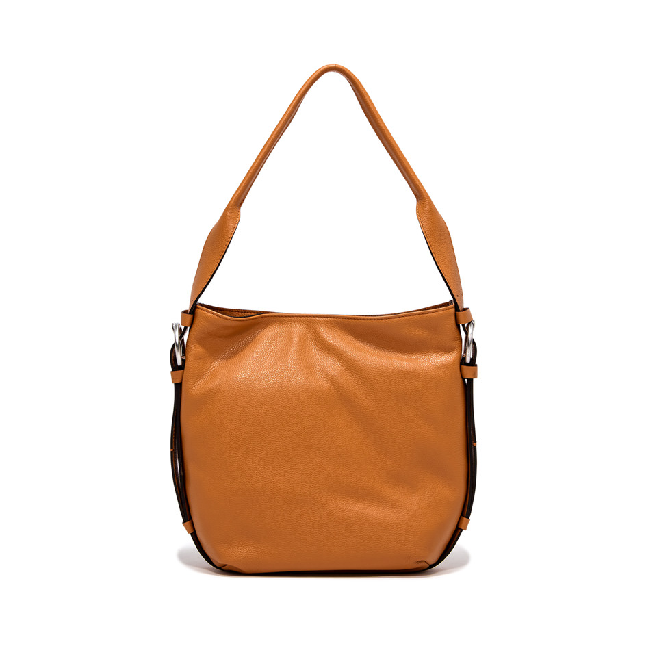 GIANNI CHIARINI: HARLEY MEDIUM ORANGE CROSSBODY BAG