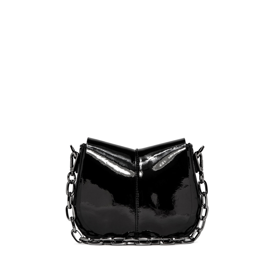 GIANNI CHIARINI: HELENA ROUND SMALL BLACK SHOULDER BAG